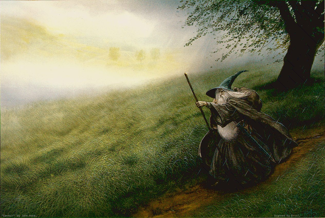 John Howe (grand illustrateur de Tolkien) Gandalf